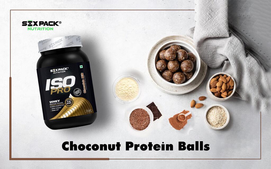 Chocolate whey protein balls